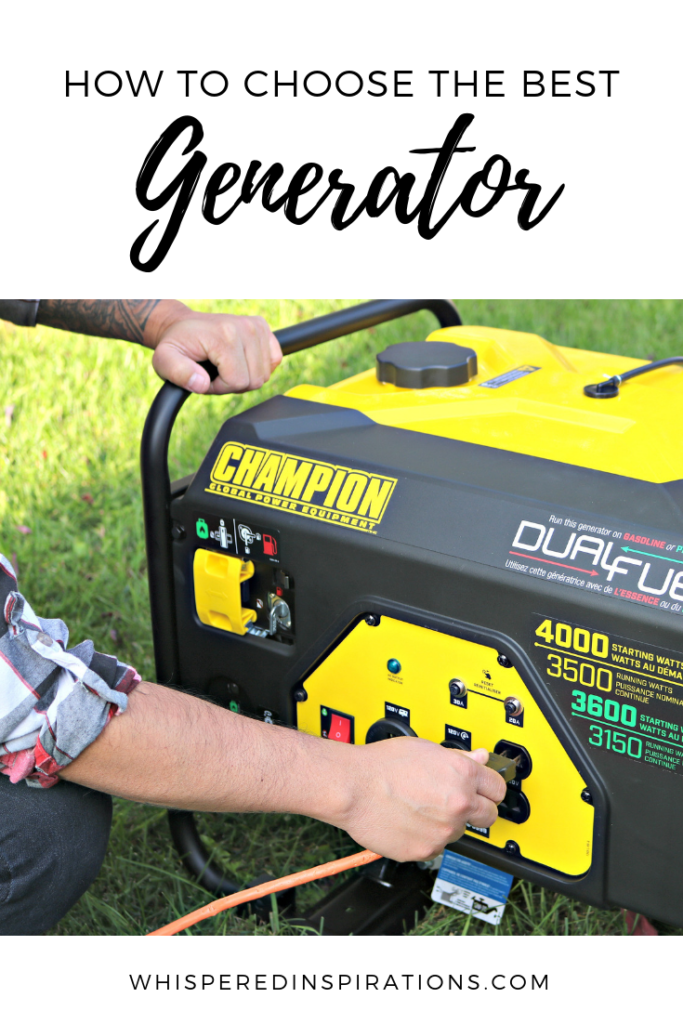 A power outage is something that can be detrimental because you can lose so much! Read on to discover how to choose the best generator for your family. #tips #generator
