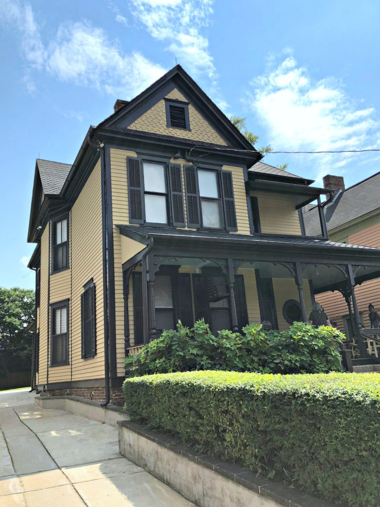The childhood home of MLK is shown.