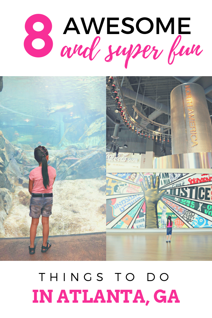 Top Fun Things to Do in Atlanta! There are so many fun things to do in Atlanta. The best thing about them is that they are family friendly & loved by kids! #travelguide #familytravel #atlantaga