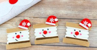 Super Easy and Cute Santa S'mores Christmas Ornament