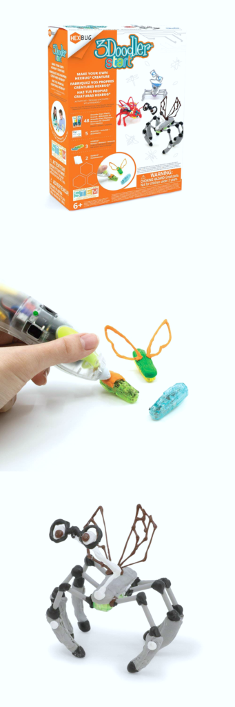 3Doodler to make your very own HEXBUGS. A pen that can make 3D objects.