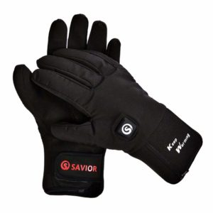 A pair of black heated gloves for men.