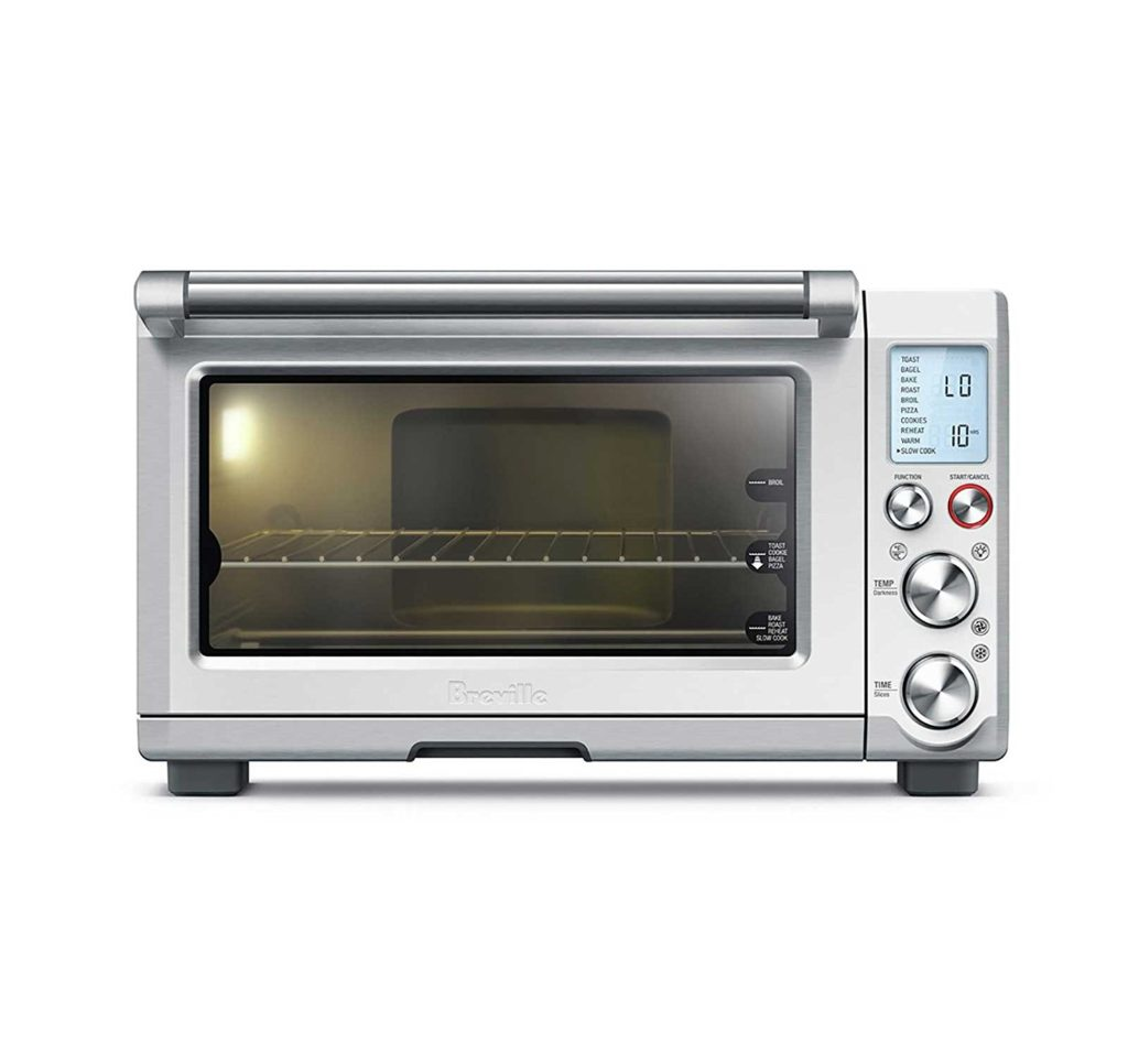 Stainless steel Breville toaster oven.
