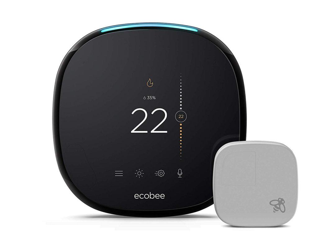 Ecobee thermostat with sensor.