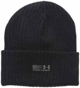 A men's Under Armour beanie hat for winter.