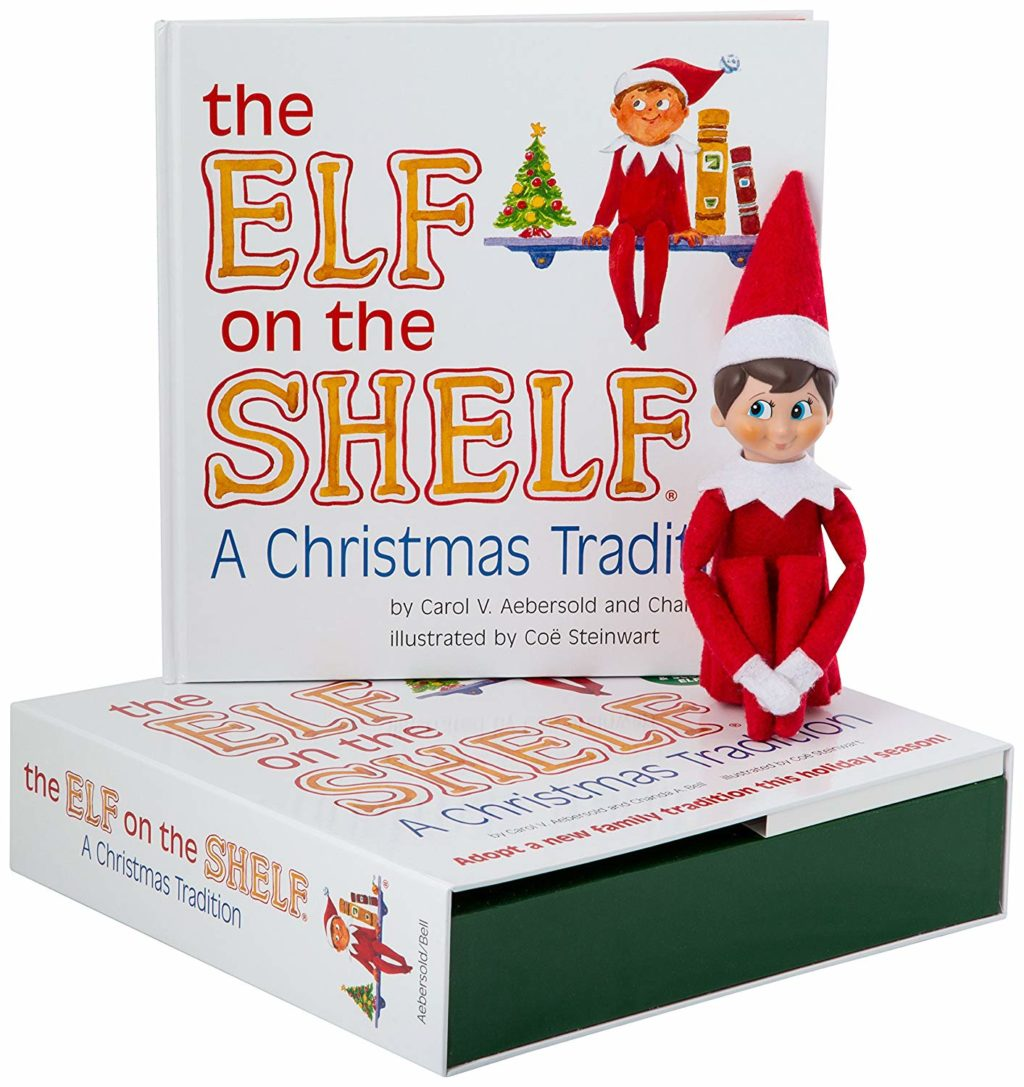 The Elf on the Shelf book with an adoptable elf.