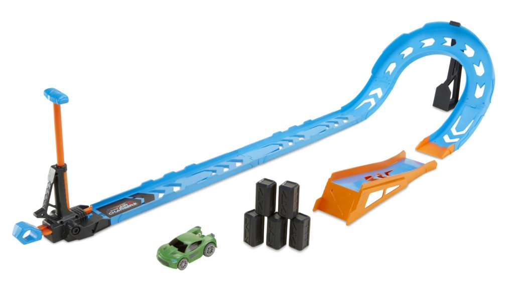 Another Air Charger play set with a green toy car is shown.