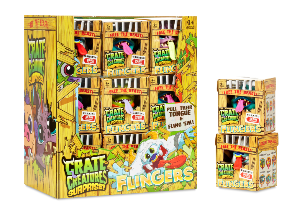 Crate Creatures in their boxes.