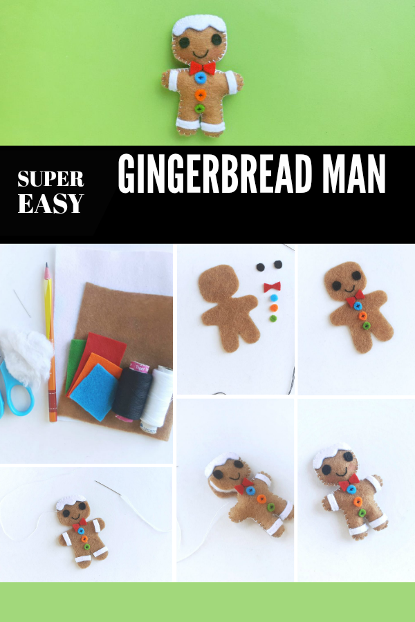 Run, run, as fast as you can and make this super cute Gingerbread Man Christmas Ornament! Follow this incredibly easy step-by-step guide! #ChristmasCrafts #CraftOfTheDay #GingerbreadMan