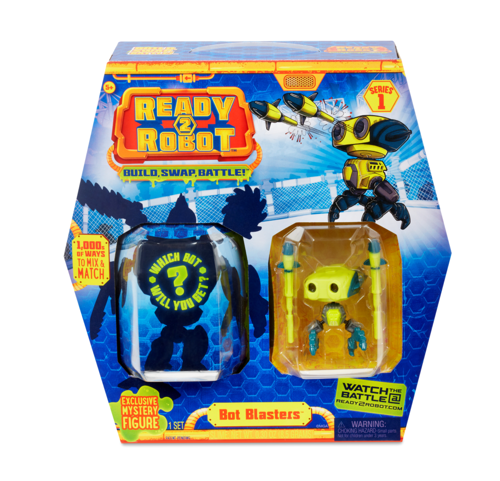 Ready2Robot Bot Blasters Series 1 are shown.