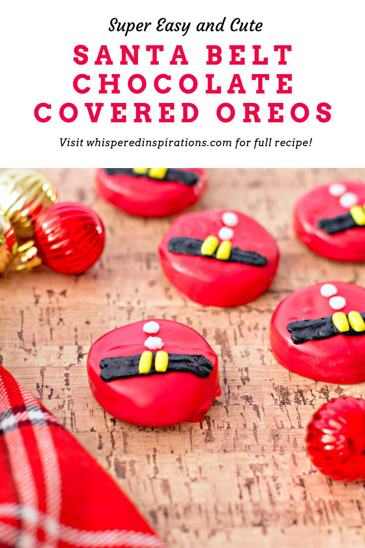 With the holidays near, it's time for holiday baking. To honour the big guy himself, we came up with these super cute Santa Belt Chocolate Covered Oreos. #HolidayDesserts #ChristmasDesserts #RecipeOfTheDay