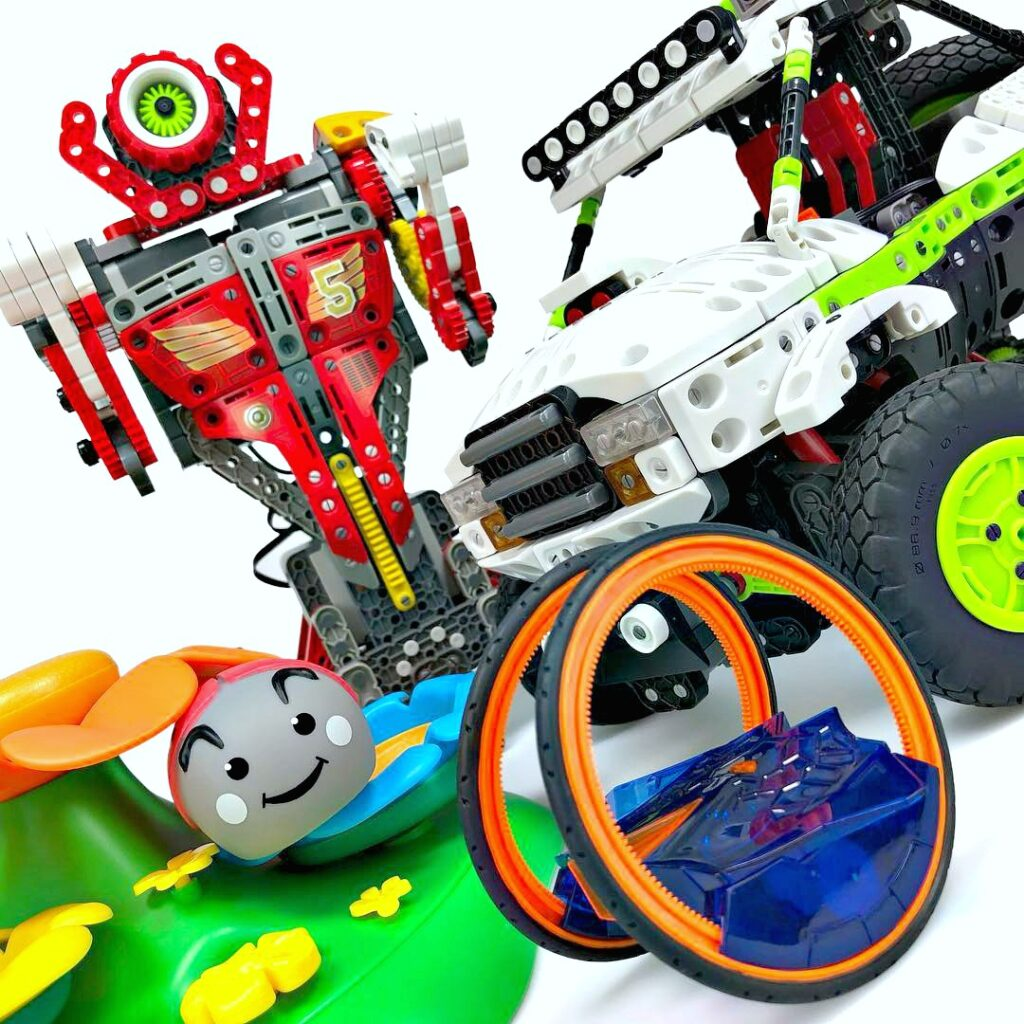 Different type of toys that use robotics or stem.