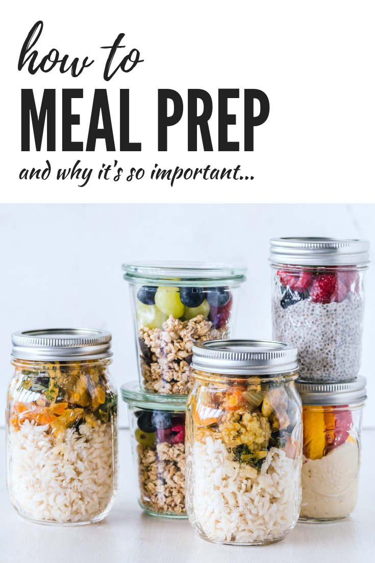 How to Start Meal Prepping & why it's so important. Use this guide to make meal prep easy. Reap the benefits of meal prep & lose the stress w/ these tips! #mealprep #mealpreptips #healthyeating
