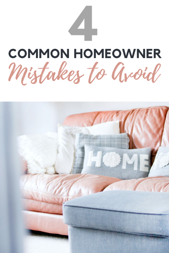 There are many joys to being a homeowner. You may discover some downfalls to ownership but, if you avoid these costly homeowner mistakes, you'll be fine! #homeownertips #lifestyle