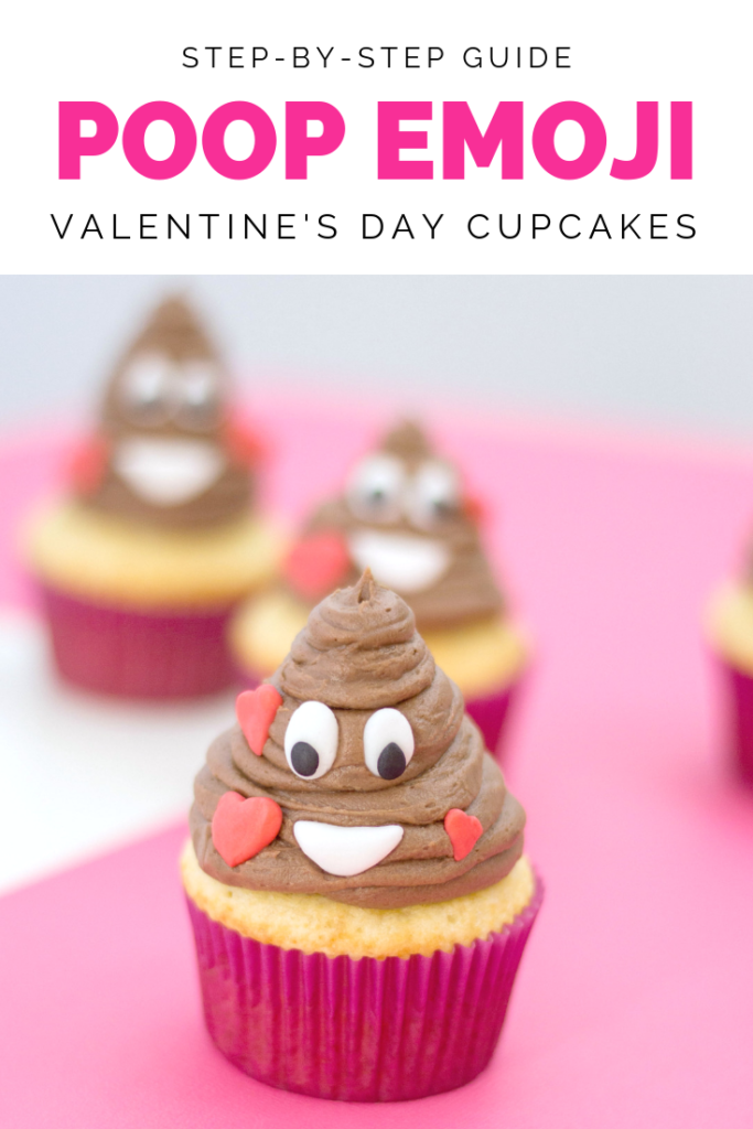 One emoji that is incredibly poop-ular is the poop emoji. That's why I just had to share this super easy Poop Emoji Cupcakes with you all. Fun for kids parties, funny office treats, or just for fun! #poopemoji #cupcakerecipes #cupcakes