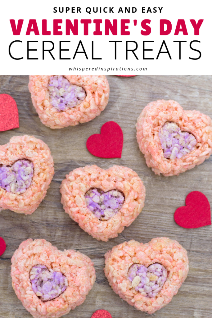 We made some festive Valentine's Day Rice Krispies Treats & you gotta make them this Valentine's Day! Perfect for school treats, office or your Valentine! #ValentinesDay #RiceKrispiesTreats #CerealTreats