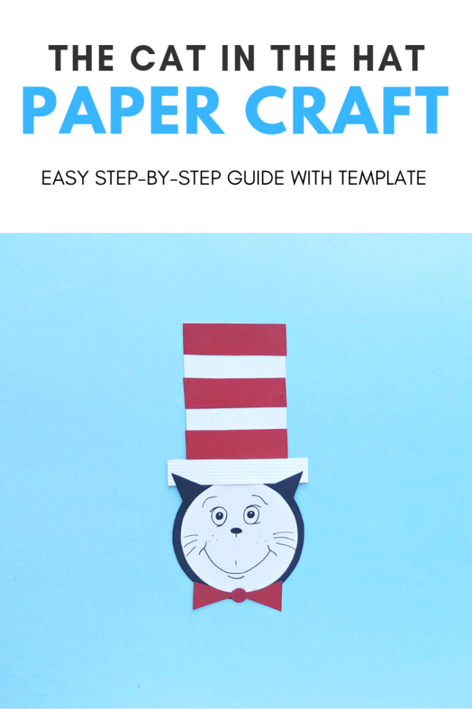 When you hear the Cat in the Hat you think Dr. Seuss. Looking for a Dr. Seuss craft for your students or kids? Make this Cat in the Hat Craft! #DrSeuss #CatInTheHat #CatInTheHatCraft #papercrafts