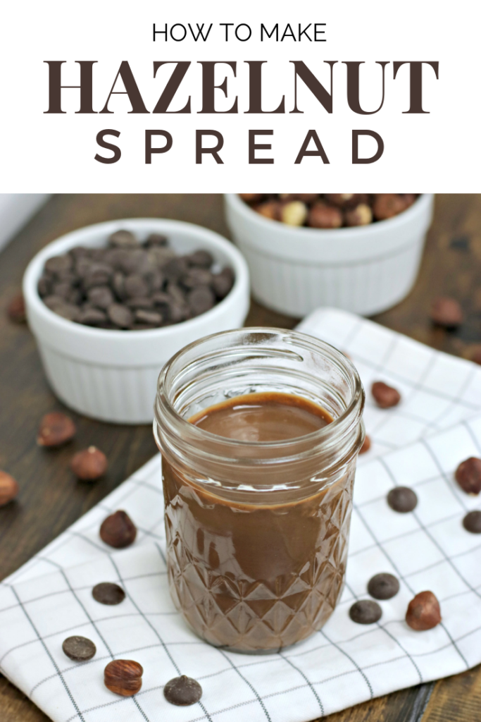 Ever wonder how to make hazelnut spread? Use this recipe & celebrate World Nutella Day by making your own hazelnut spread in minutes! #hazelnuts #hazelnutspread #worldnutelladay #homemadenutella