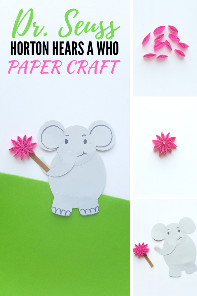 Celebrate Dr. Seuss Day and Dr. Seuss' Birthday w/ one of the most tender & heartwarming stories. Make this Horton Hears a Who Craft, the kids will love it! #kidscrafts #schoolcrafts #DrSeuss