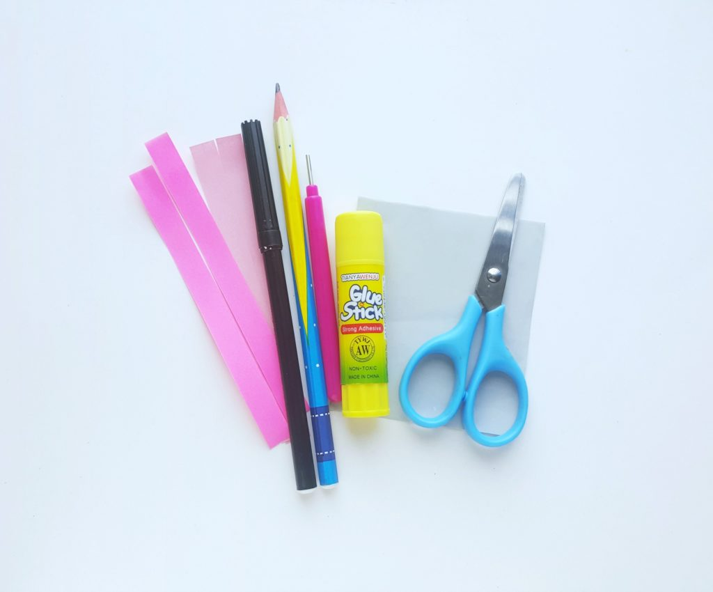 Supplies needed to make Horton Hears a Who paper craft.