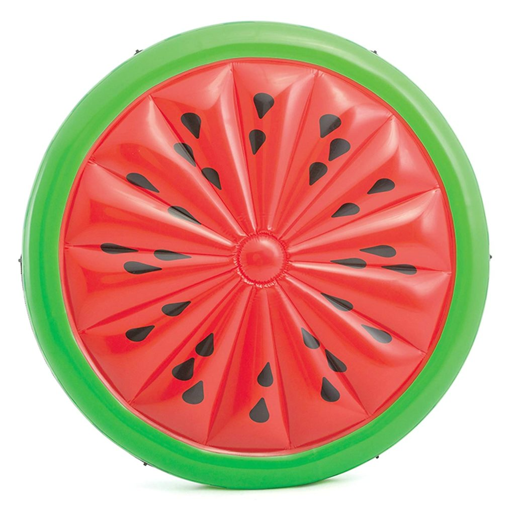 A large watermelon pool float.