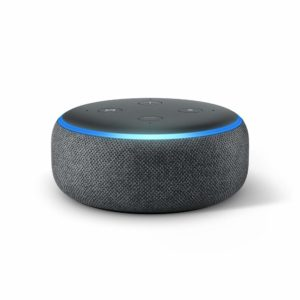 An Amazon Echo Dot Generation 3.