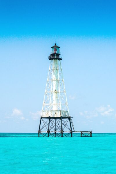 A lighthouse in Islamorada, Florida.