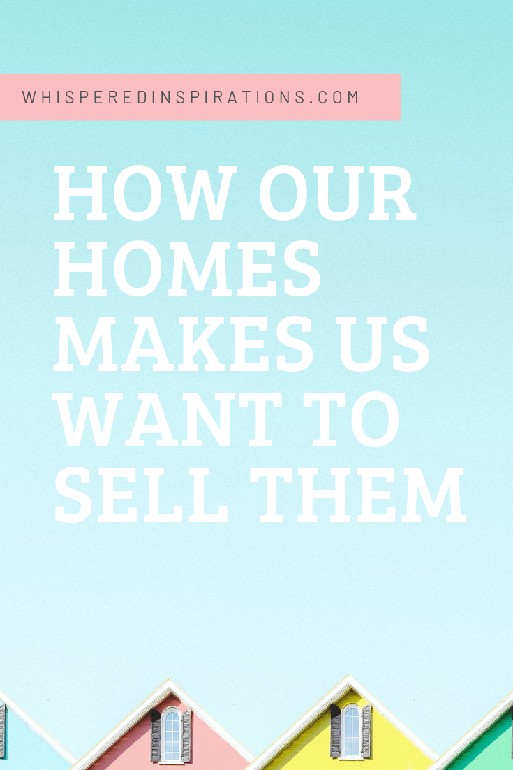 """A banner reads, """"How our homes makes us want to sell them."""" A picture of Tips of 4 Colourful Houses is shown."""