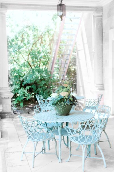 A beautiful but shabby porch.