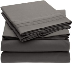 Microfiber sheets that are affordable and soft.