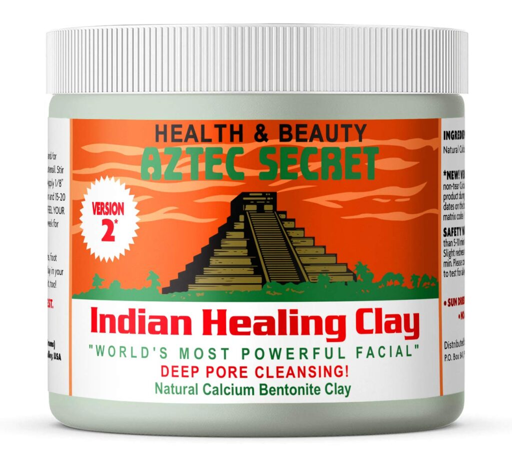 Aztec Secret Indian Healing Clay, perfect for clearing skin.