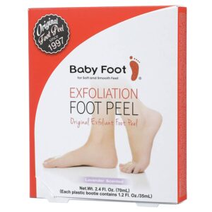 The packaging of Baby Foot Exfoliation Foot Peel.