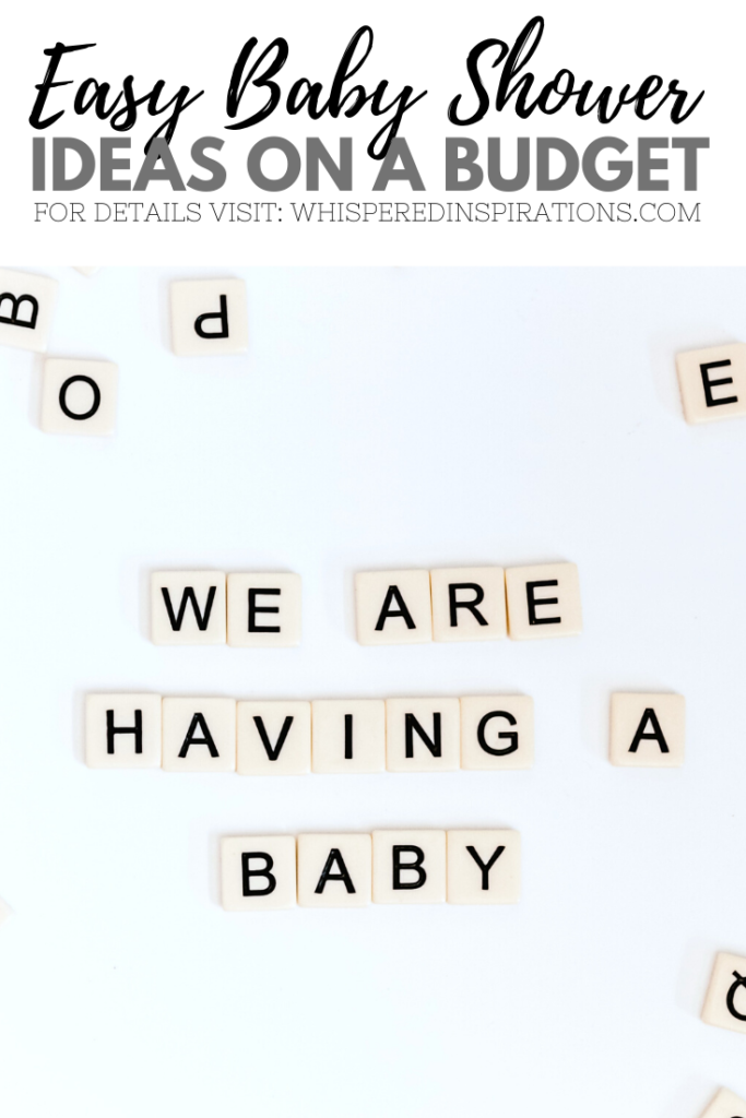 "Scrabble pieces are placed to spell out, ""we are having a baby."""