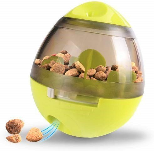 Cat and Dog treat dispenser. The shape resembles an egg.