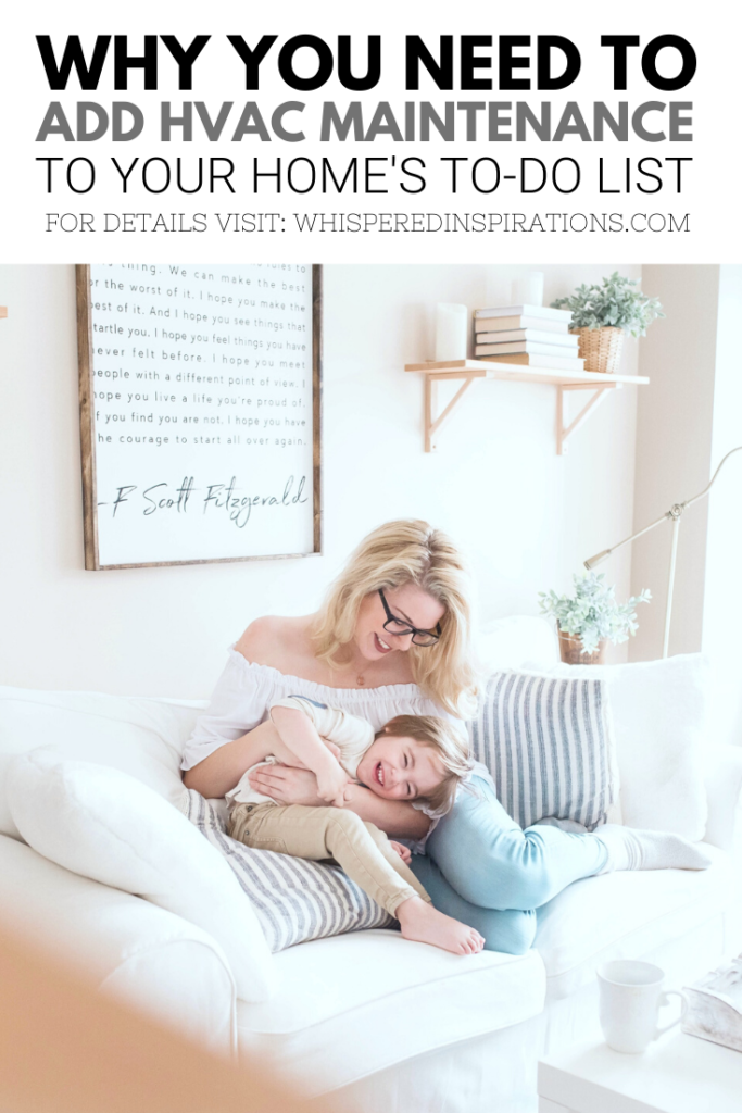 A woman cuddles her son in a bright, beautiful, home.