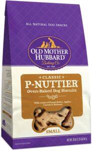 Old Mother Hubbard Dog Treats, PNuttier flavor.