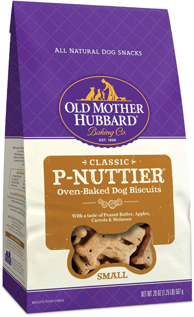 Old Mother Hubbard Dog Treats, PNuttier flavor.
