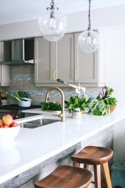 A beautiful and updated kitchen in a well-kept home.