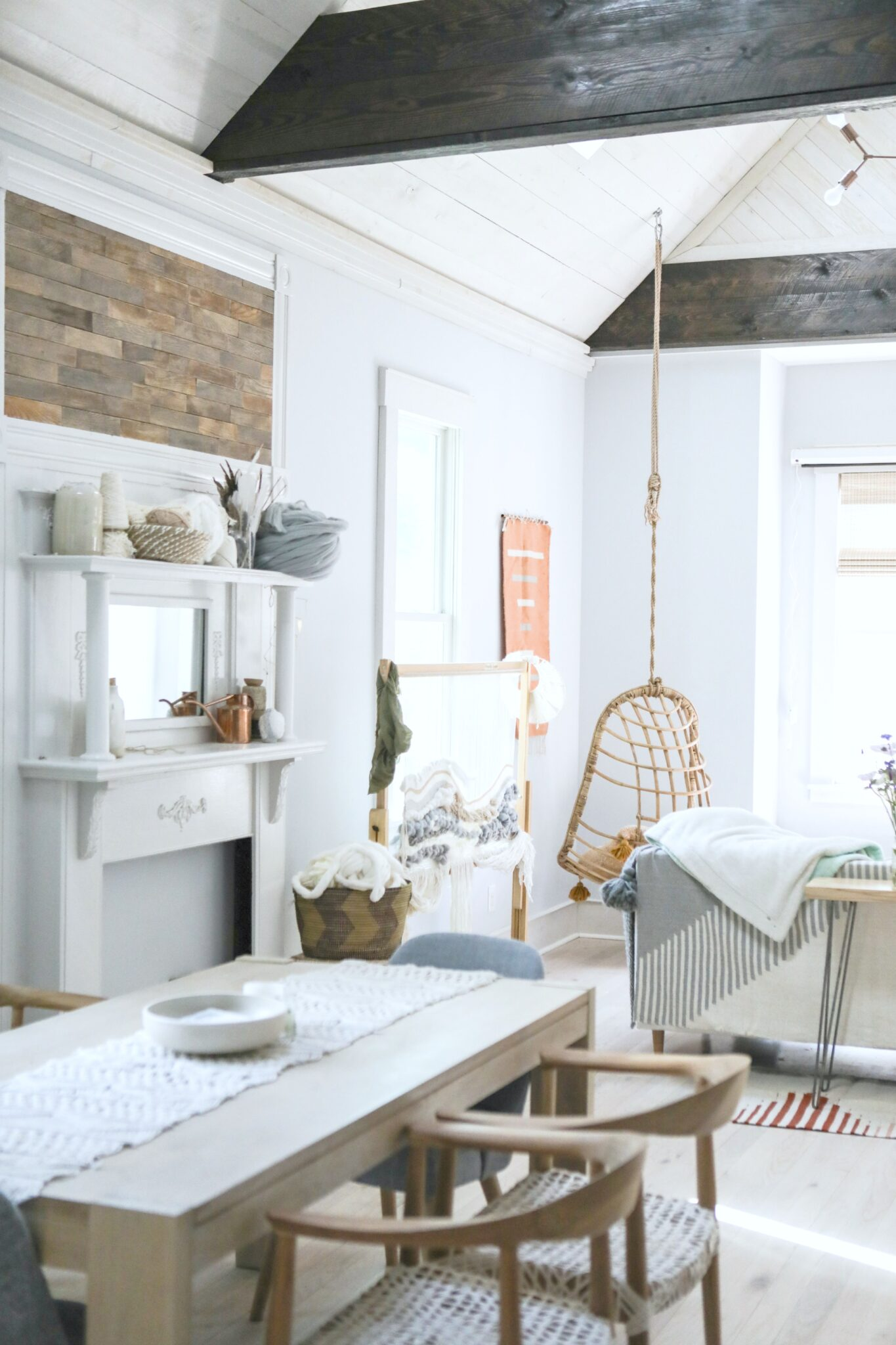 A beautiful bohemian and rustic home. The living room is warm and welcoming. This is article is about how to soundproof your home and why you should.