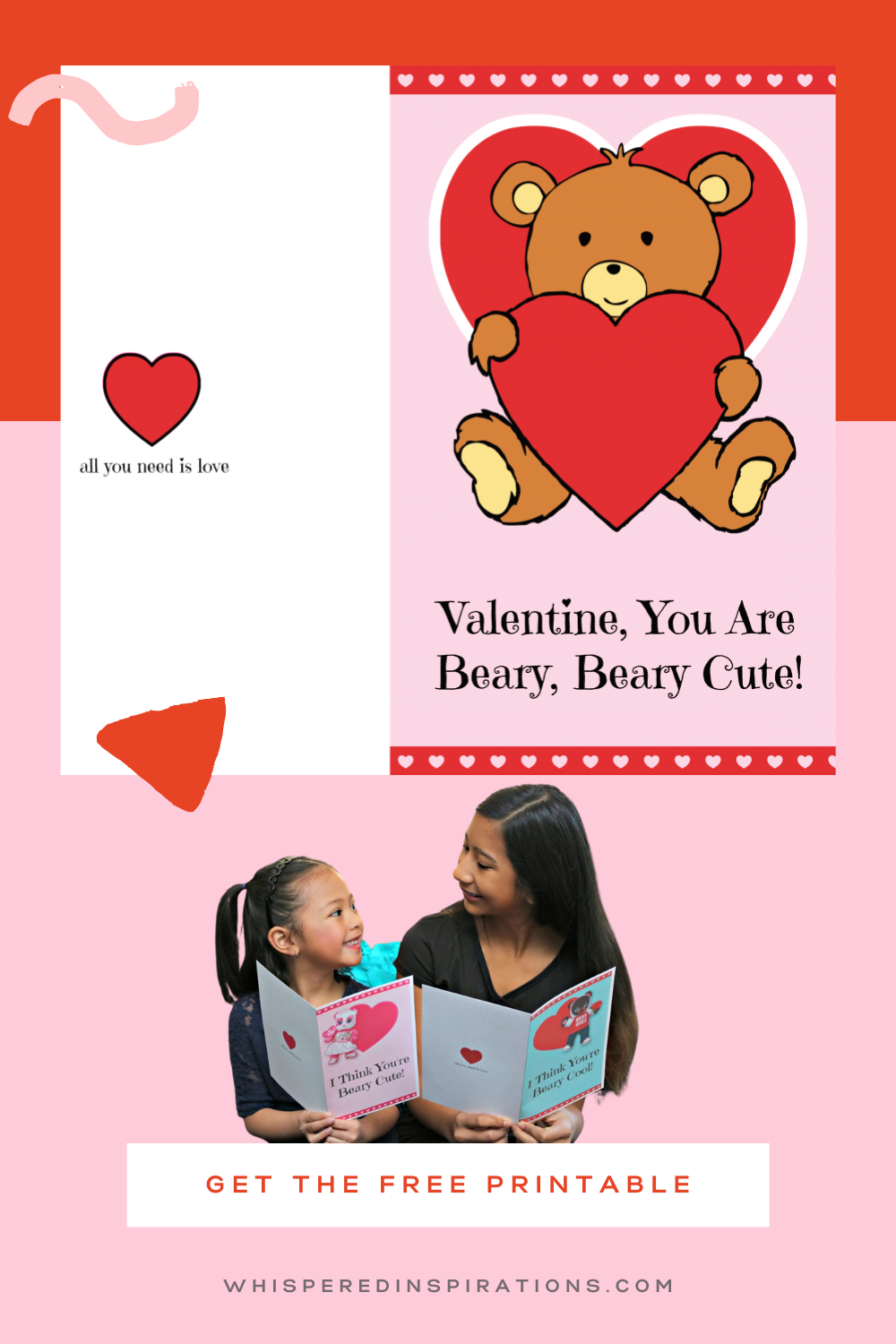 Celebrate Valentine's Day with Build-A-Bear & these FREE Valentine's Day Card Printable. It's the day for love and friendship! This is a simple and cute Valentine's Day Card that can be fully customized inside. Quick, easy, and perfect for when you forget Valentine's Day or when you want to make handmade Valentine's Day cards.
