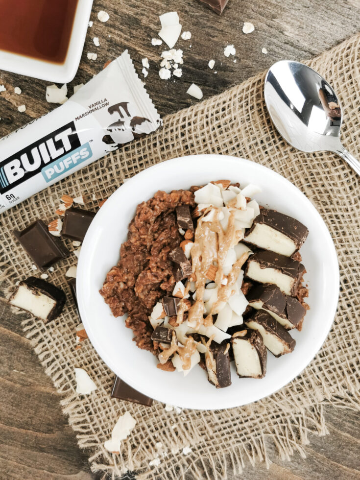Protein-Packed Almond Joy Oatmeal