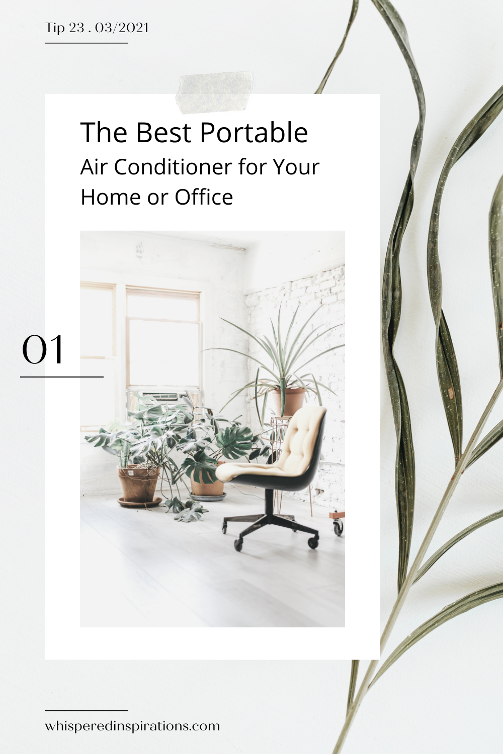 A beautiful, airy, and open office. This article offers how to find the best portable air conditioners for your home or office.