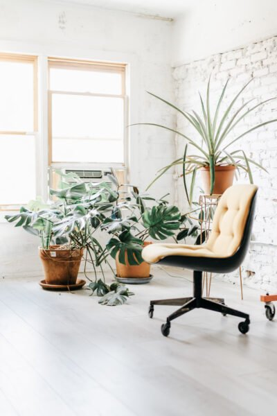 A beautiful, airy, and open office. This article offers how to find the best portable air conditioners for your office or home.